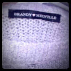 Ash grey knit sweater